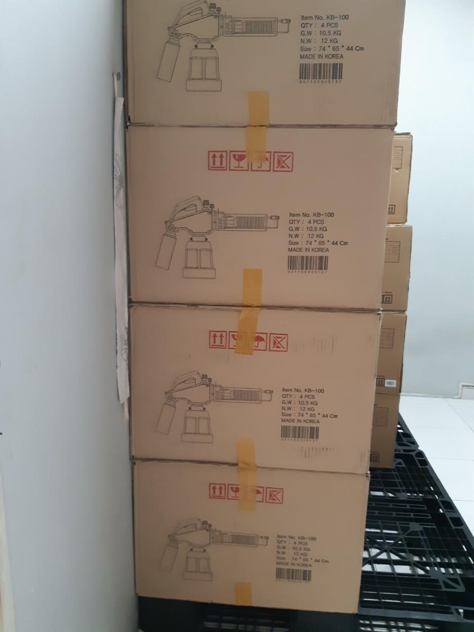 Lô hàng máy phun khói KB100 nhập khẩu chính hãng Hàn Quốc